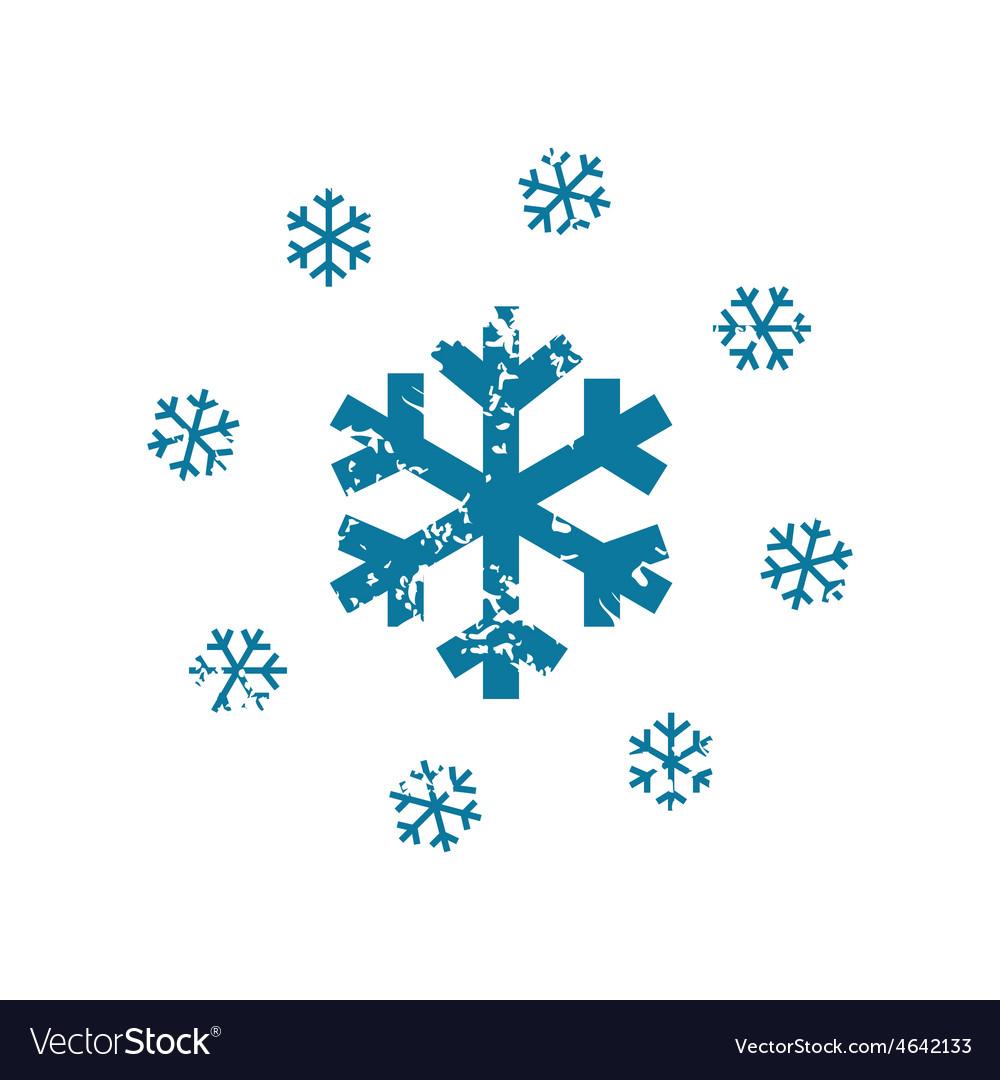 Grunge snowing icon vector   Price: 1 Credit (USD $1)