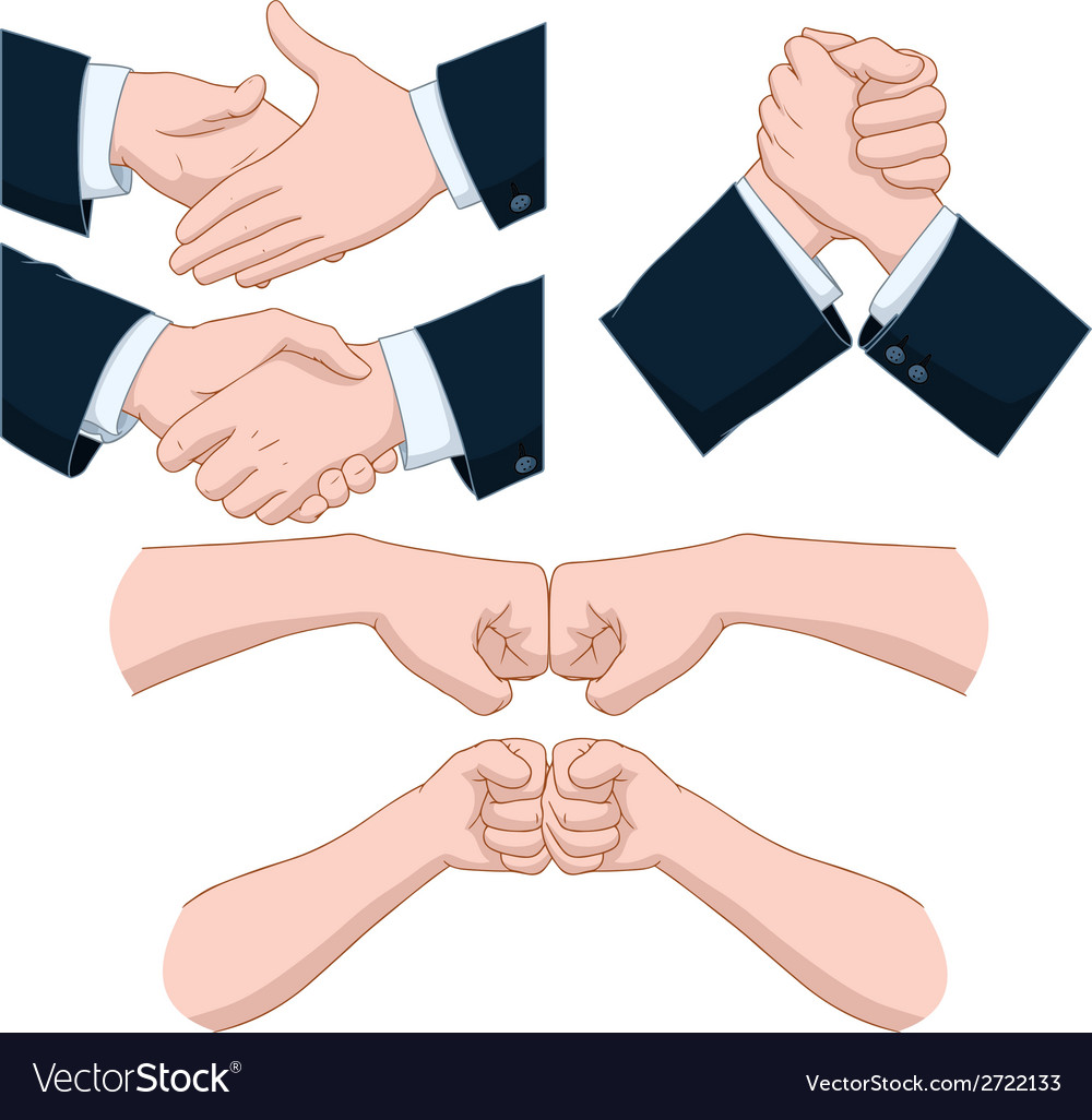 Hand shakes pack vector | Price: 1 Credit (USD $1)