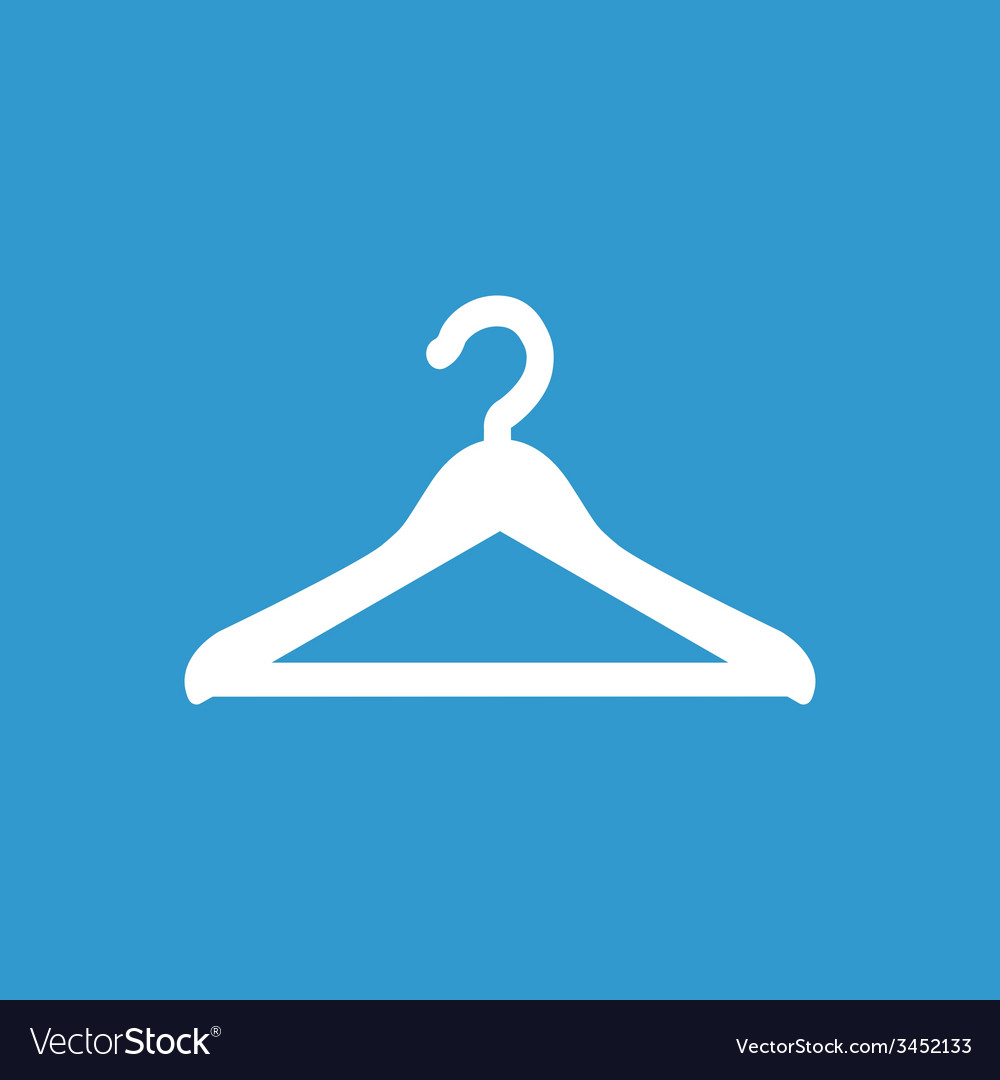 Hanger icon white on the blue background vector | Price: 1 Credit (USD $1)
