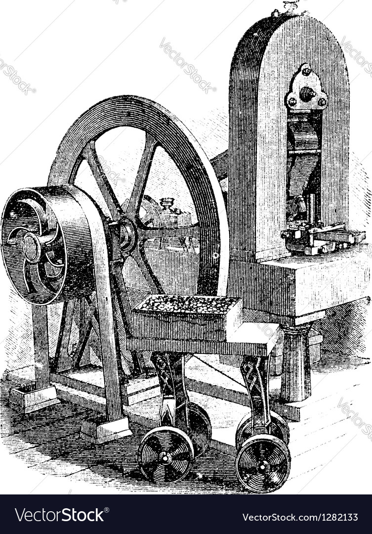 Hit machine vintage engraving vector | Price: 1 Credit (USD $1)
