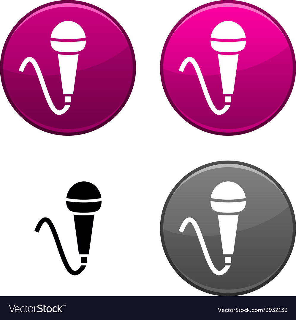 Mic button vector | Price: 1 Credit (USD $1)