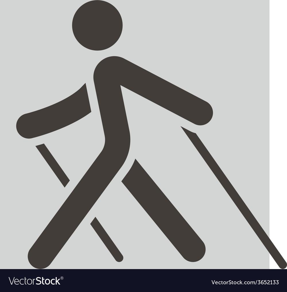 Nordic walking icon vector   Price: 1 Credit (USD $1)