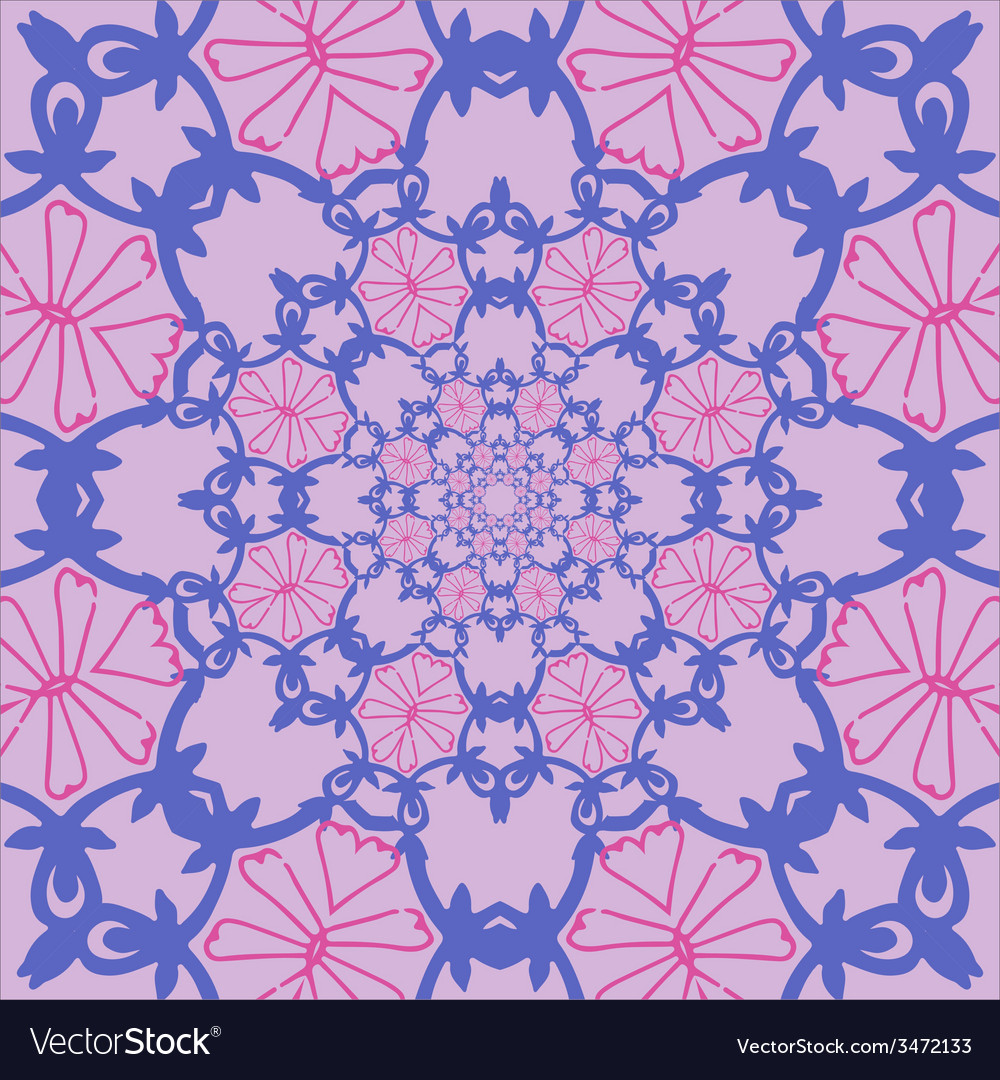 Pattern with roses in the oriental style not vector | Price: 1 Credit (USD $1)