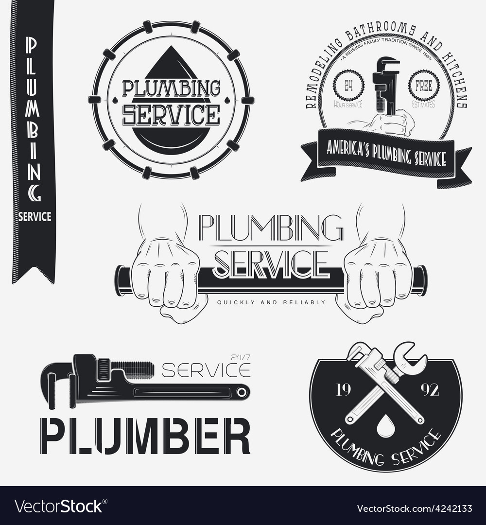 Plumbing service home repairs repair and vector | Price: 1 Credit (USD $1)