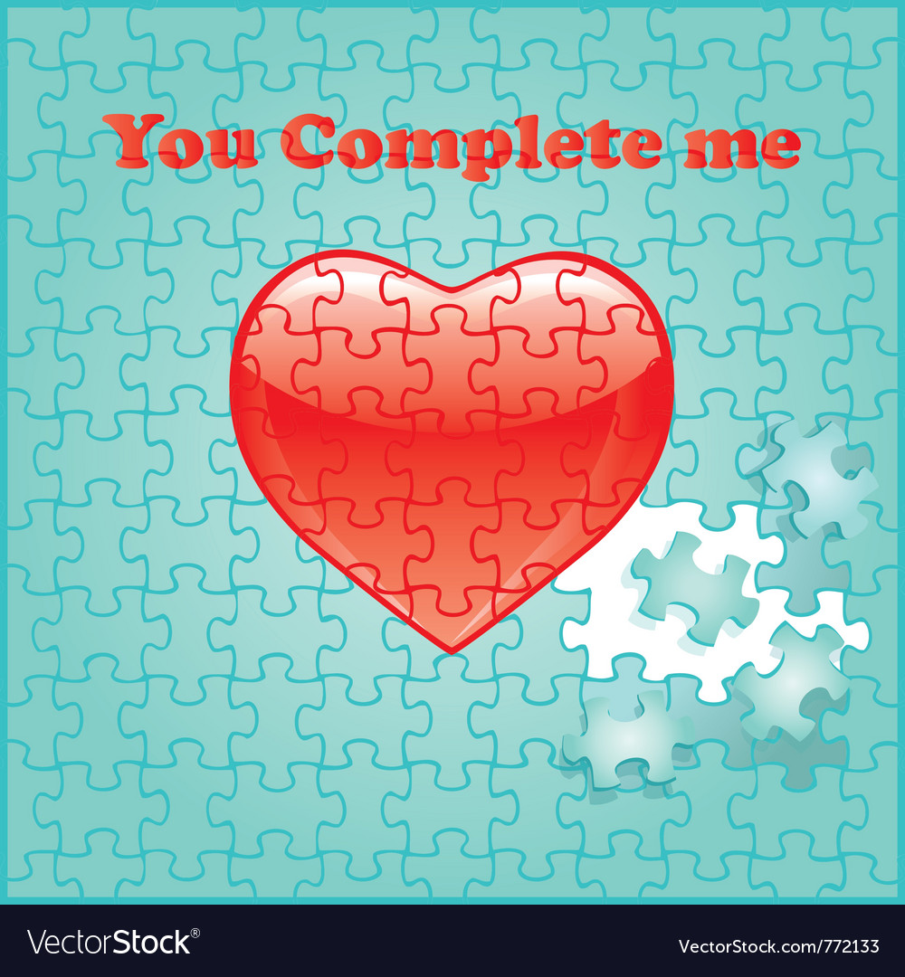 Puzzle background heart vector   Price: 1 Credit (USD $1)