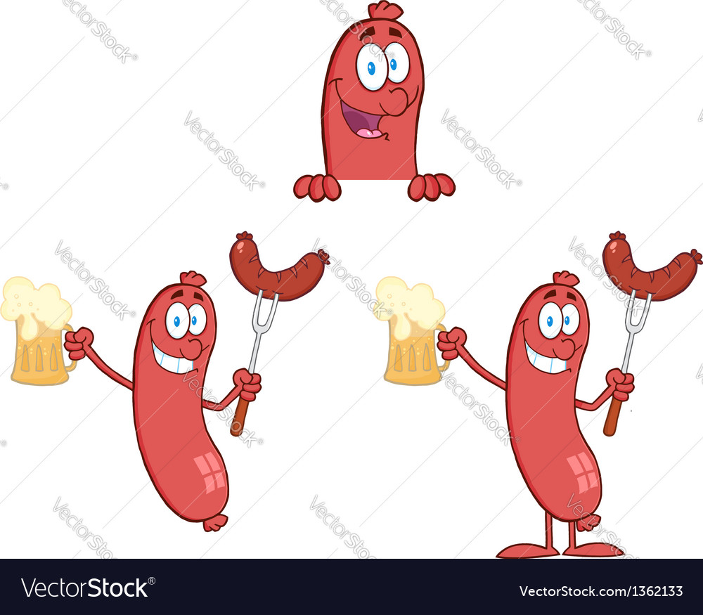 Sausage with bear collection vector | Price: 1 Credit (USD $1)