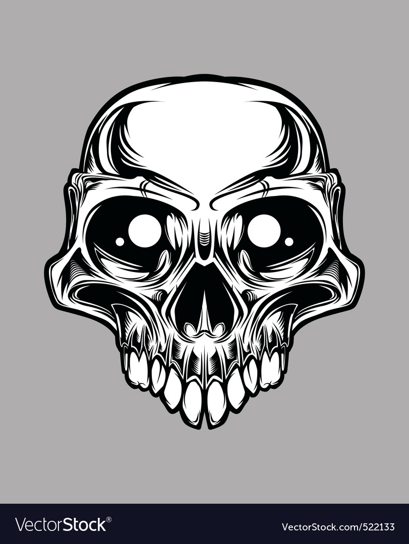 skull vector vector | Price: 3 Credit (USD $3)