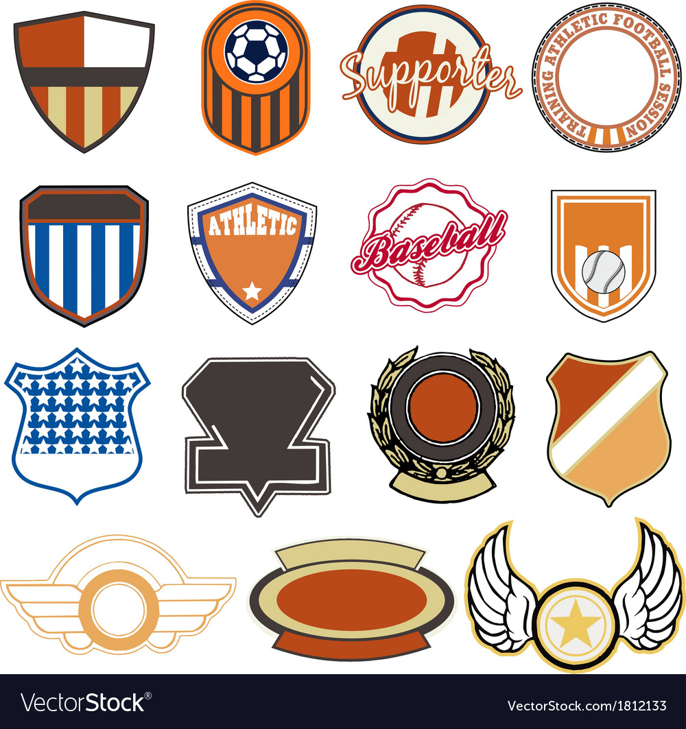 Sport badges vector | Price: 1 Credit (USD $1)