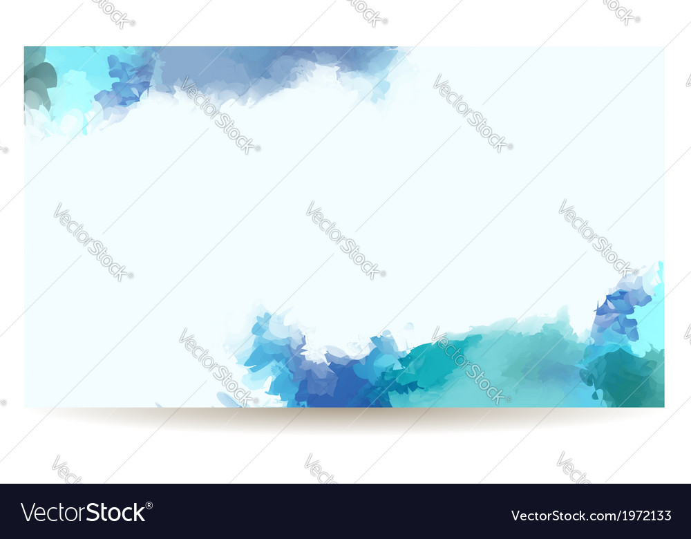 Watercolor banner vector | Price: 1 Credit (USD $1)