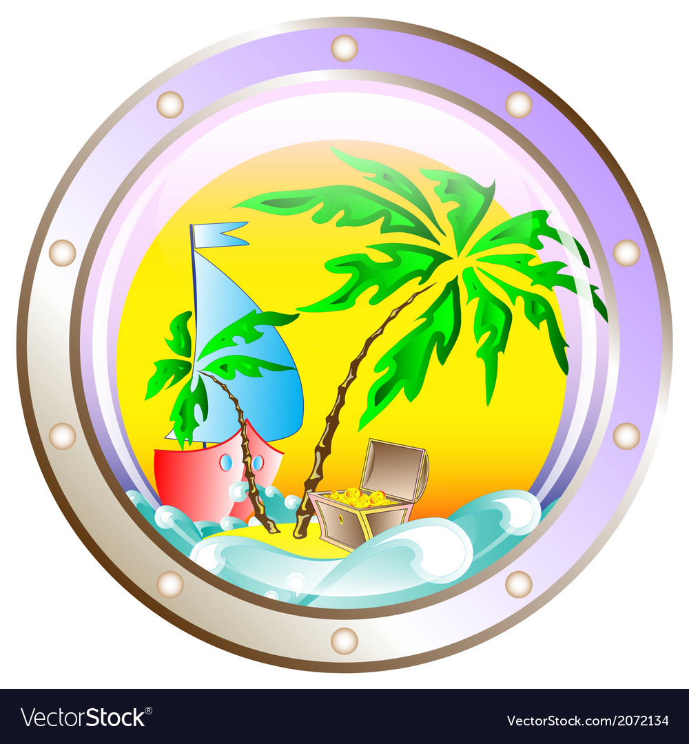 Background on vacation at sea vector | Price: 1 Credit (USD $1)