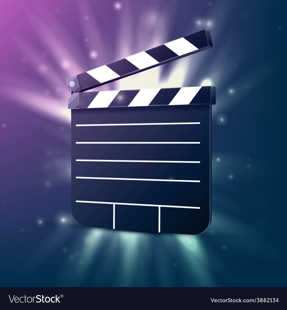 Black cinema clapper vector | Price: 1 Credit (USD $1)