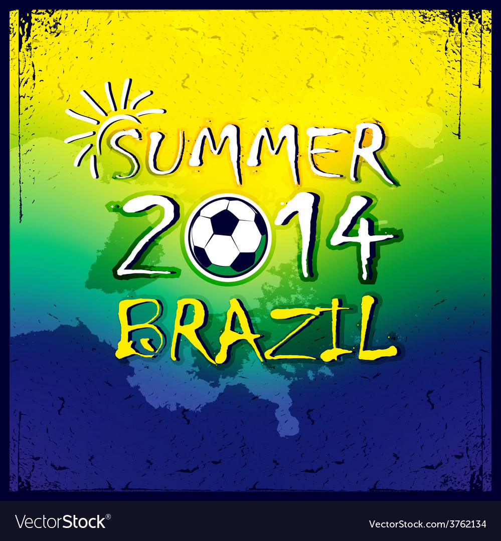 Brazilian football poster summer 2014 vector | Price: 1 Credit (USD $1)