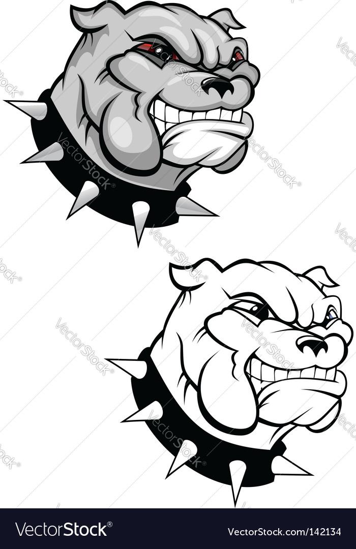 Bulldog mascot vector | Price: 1 Credit (USD $1)