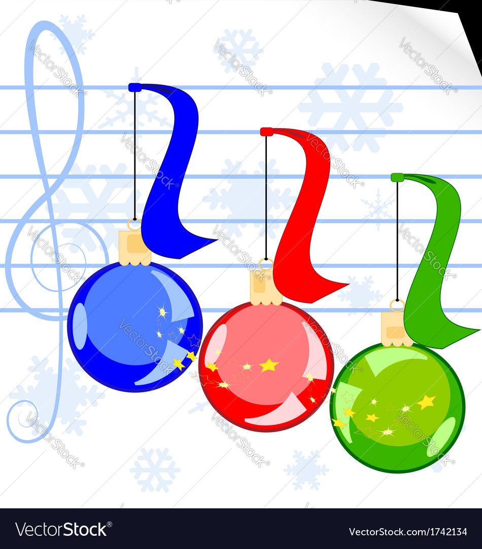 Christmas music vector | Price: 1 Credit (USD $1)