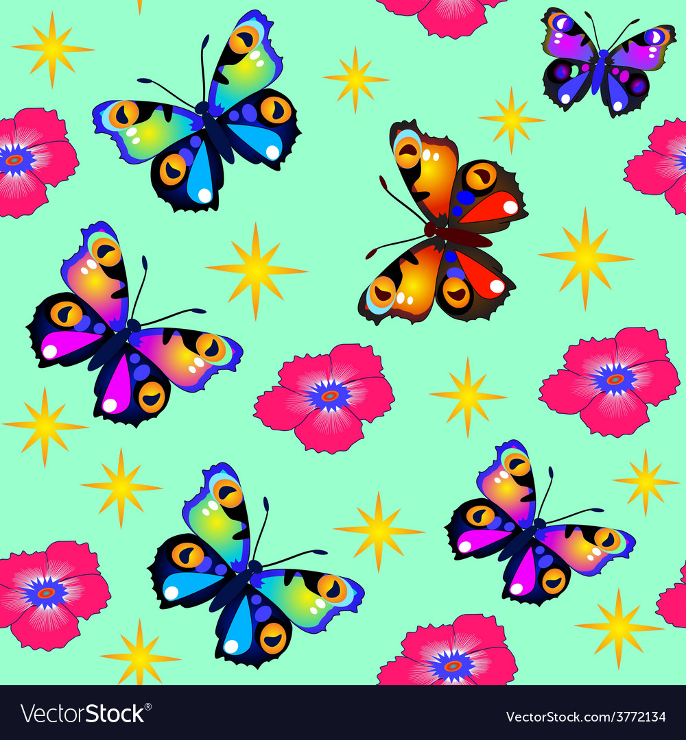 Green background seamless butterfly vector   Price: 1 Credit (USD $1)