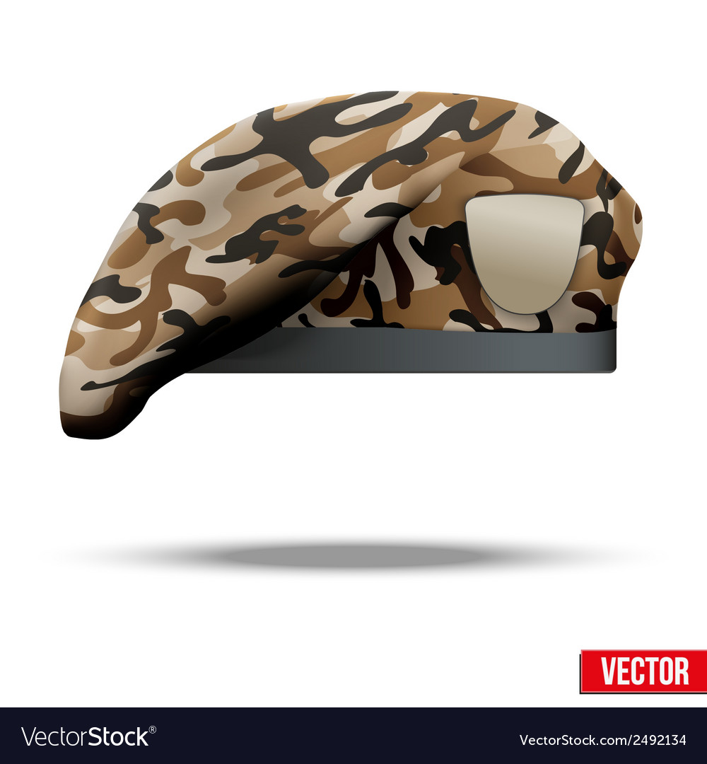 Military camo beret special forces vector | Price: 1 Credit (USD $1)
