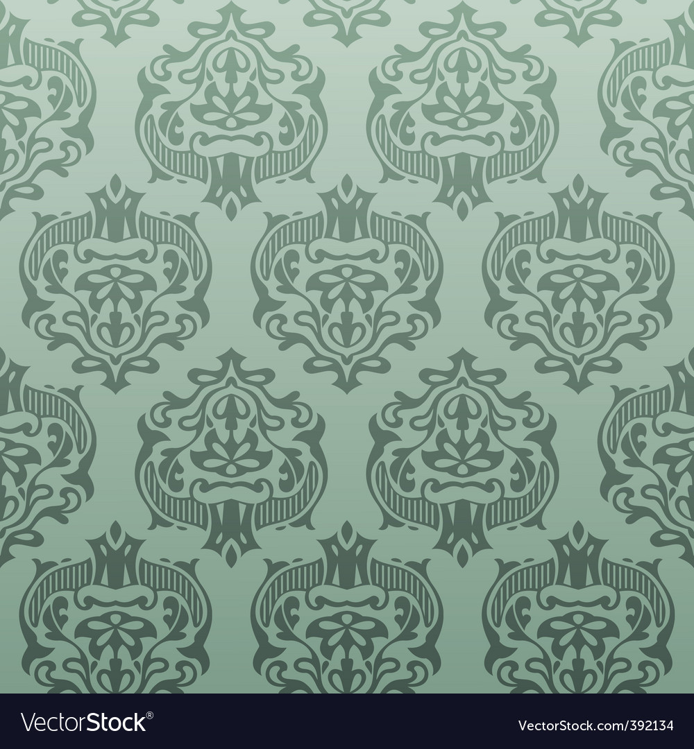 Retro damask wallpaper vector | Price: 1 Credit (USD $1)
