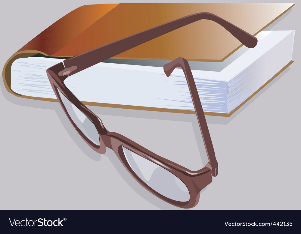 Book and spectacle vector | Price: 1 Credit (USD $1)