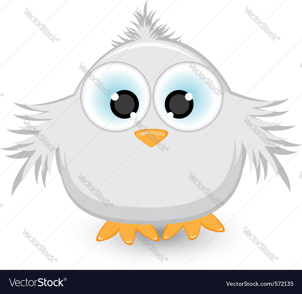 Cartoon gray sparrow vector | Price: 1 Credit (USD $1)