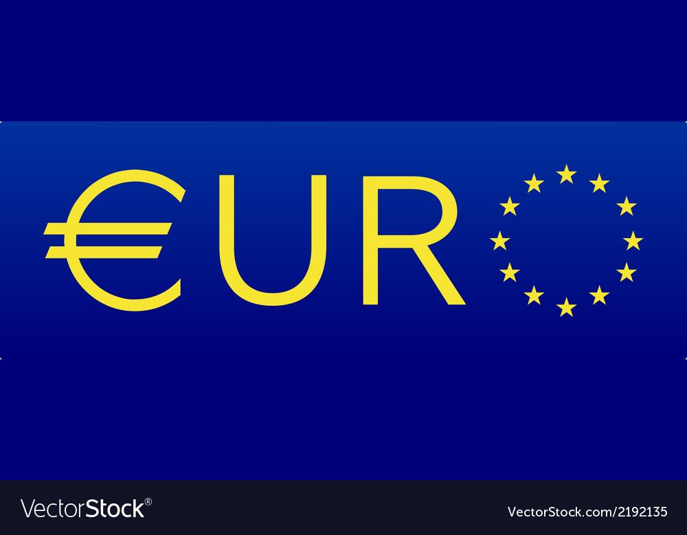 Euro flag european union sign vector | Price: 1 Credit (USD $1)
