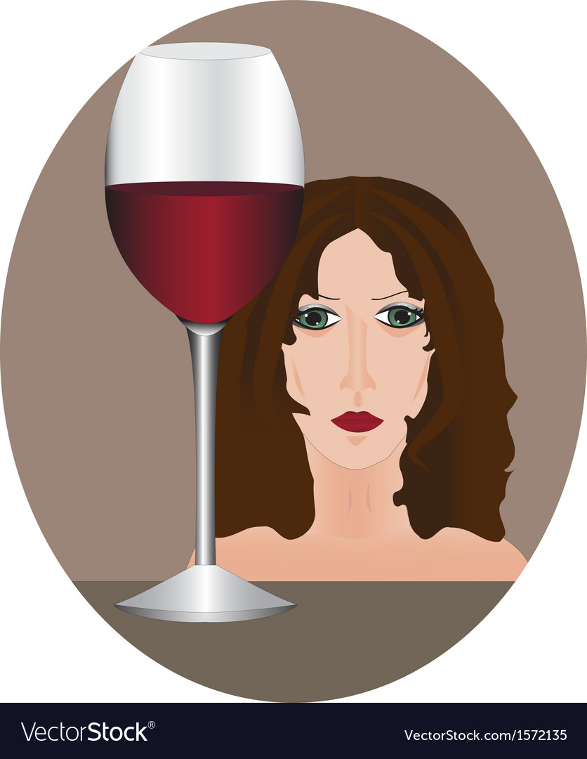 Female alcoholism vector | Price: 1 Credit (USD $1)