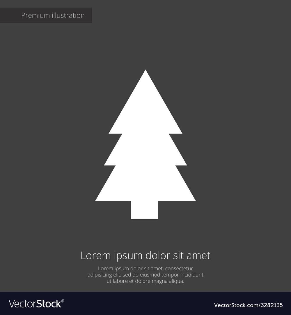 Fir-tree premium icon white on dark background vector | Price: 1 Credit (USD $1)