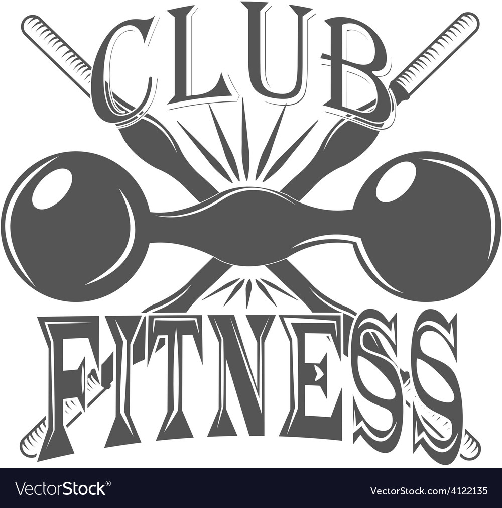 Fitness club sport logo and pictures vector | Price: 1 Credit (USD $1)