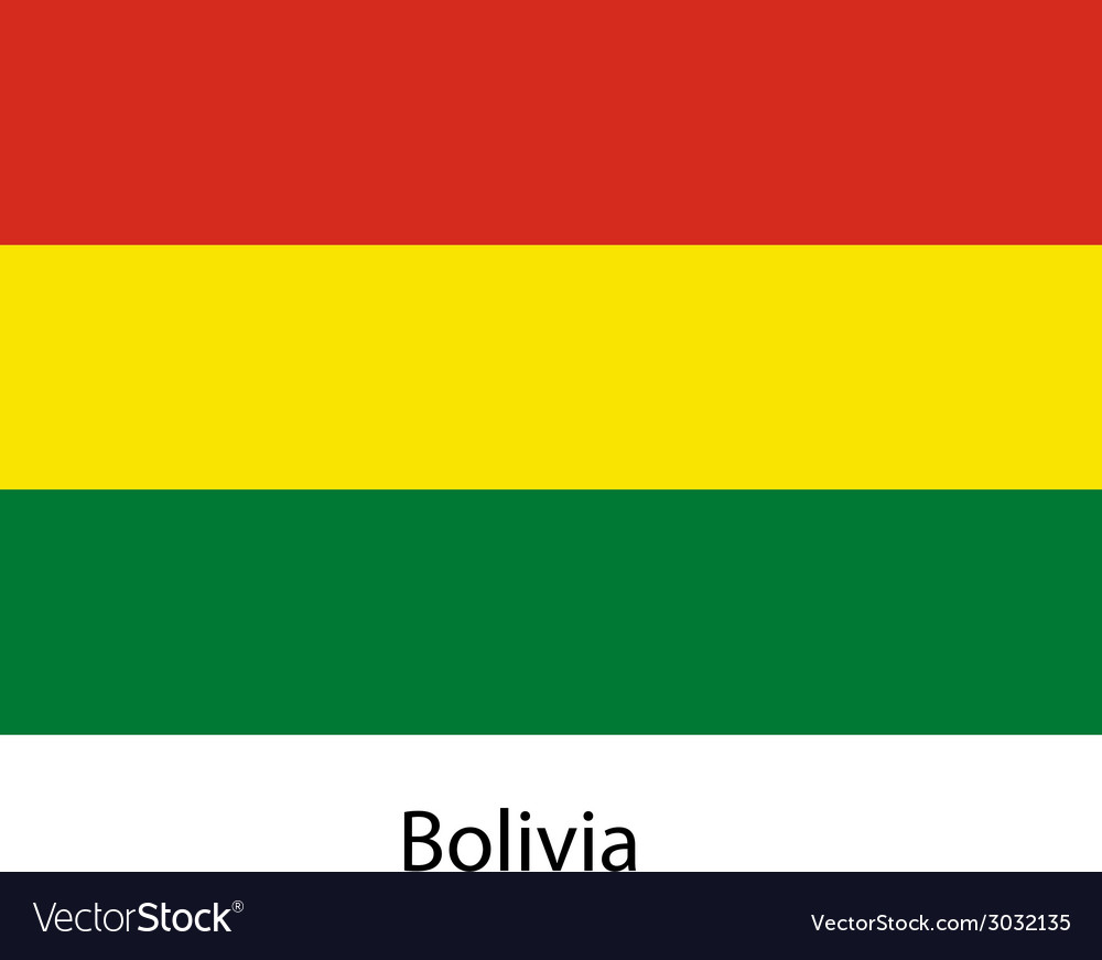 Flag of the country bolivia vector | Price: 1 Credit (USD $1)