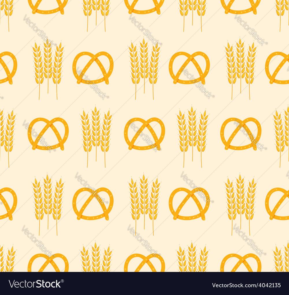 Pretzel and wheat pattern vector | Price: 1 Credit (USD $1)