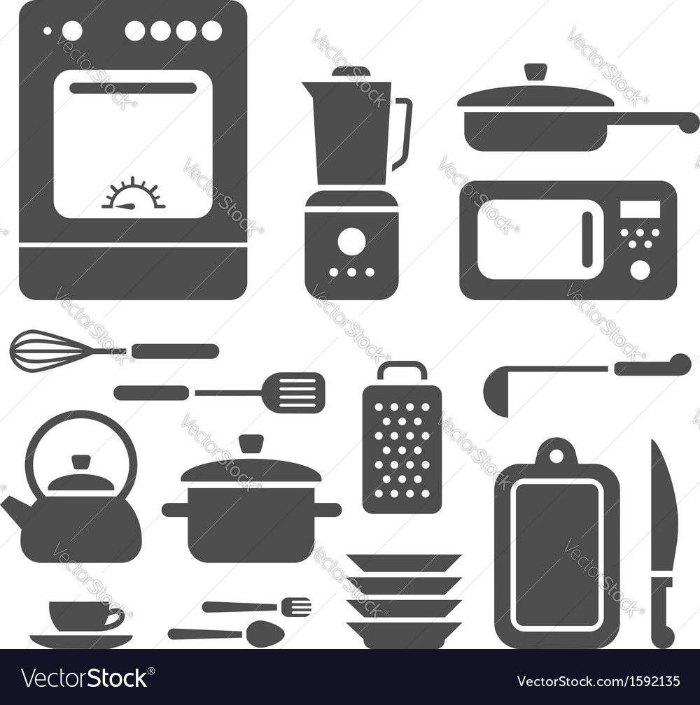Set of cooking utensils vector | Price: 1 Credit (USD $1)