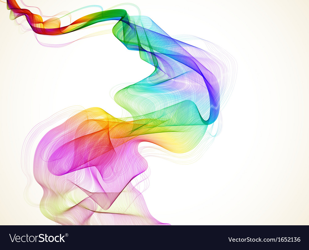 Abstract colorful wave vector | Price: 1 Credit (USD $1)