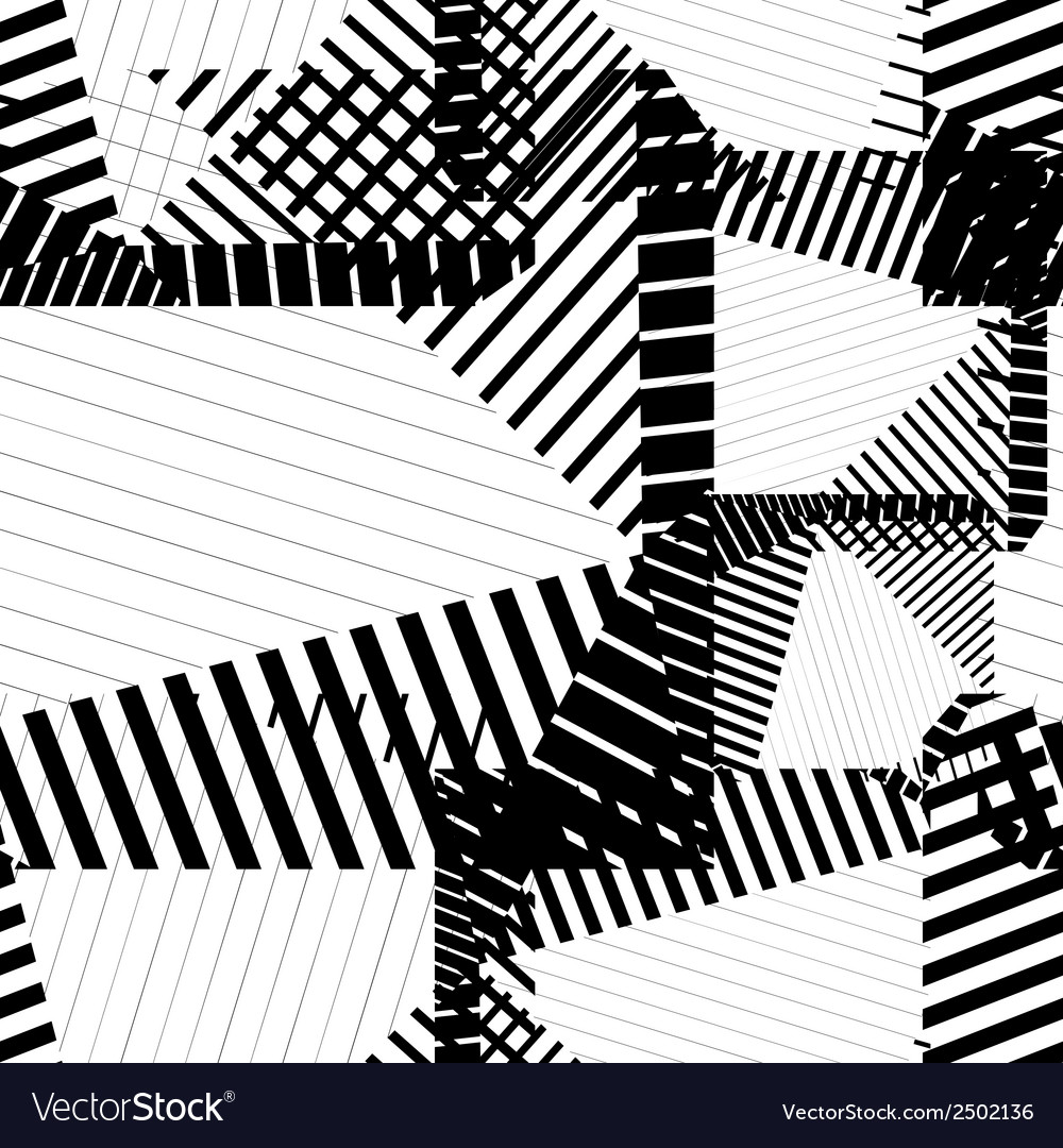 Black and white rhythmic textured endless pattern vector | Price: 1 Credit (USD $1)