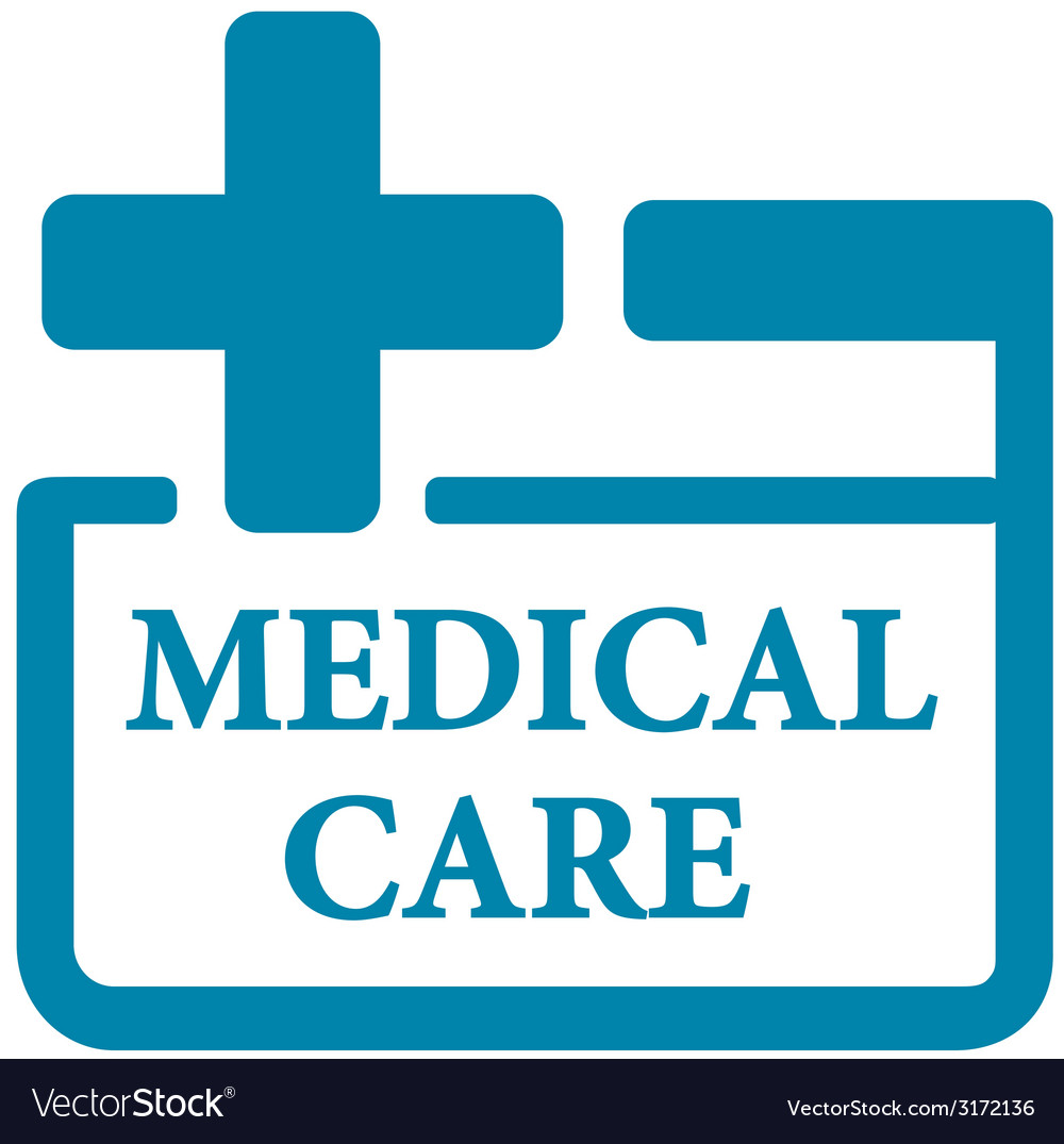 Blue medical care icon vector | Price: 1 Credit (USD $1)