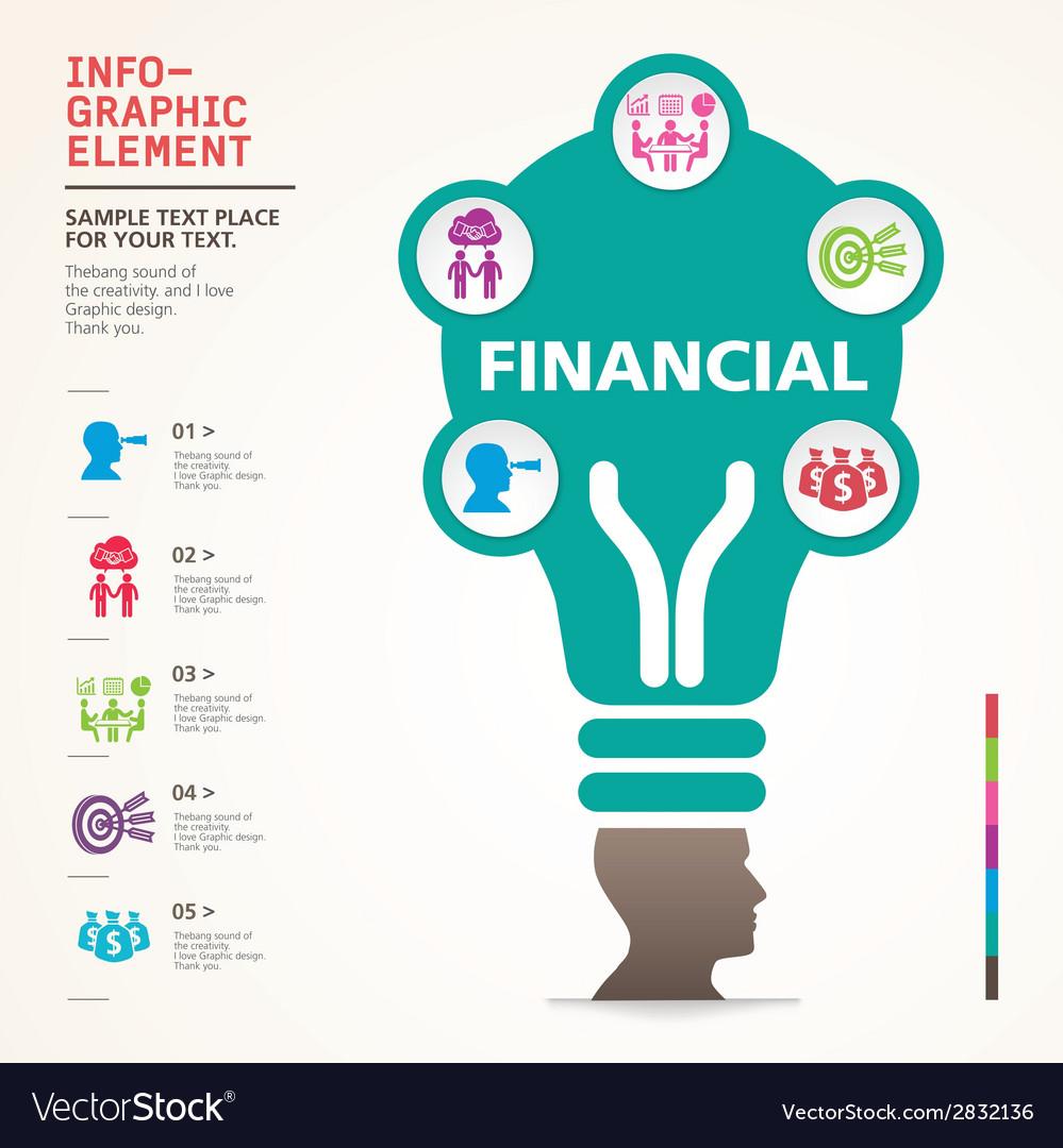 Bulb icon with idea concept info graphic vector | Price: 1 Credit (USD $1)