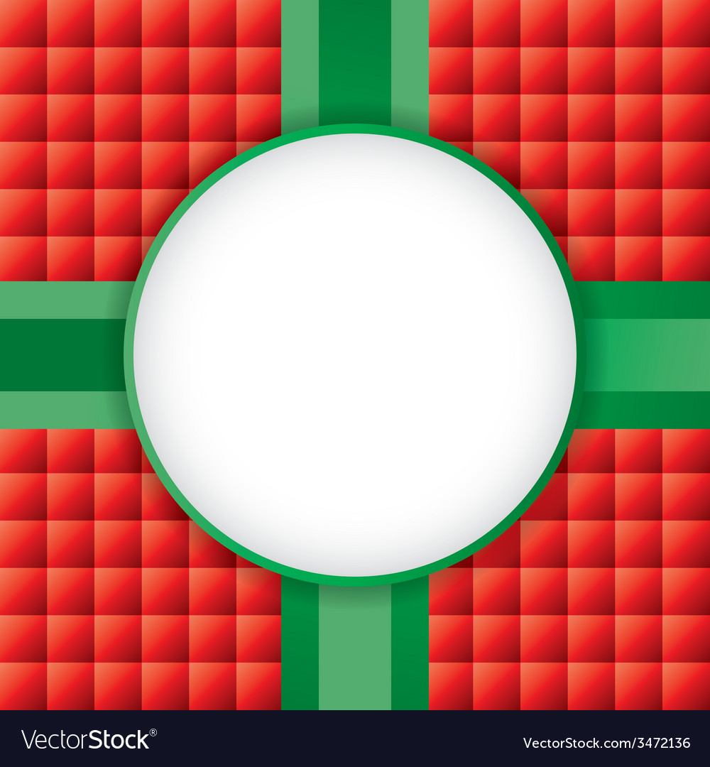 Christmas present with circle copyspace vector | Price: 1 Credit (USD $1)