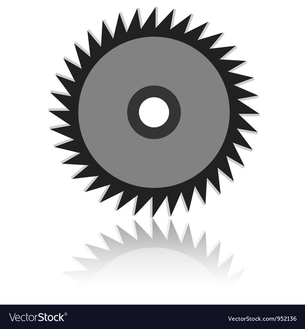 Circular saw blade on a white background vector | Price: 1 Credit (USD $1)