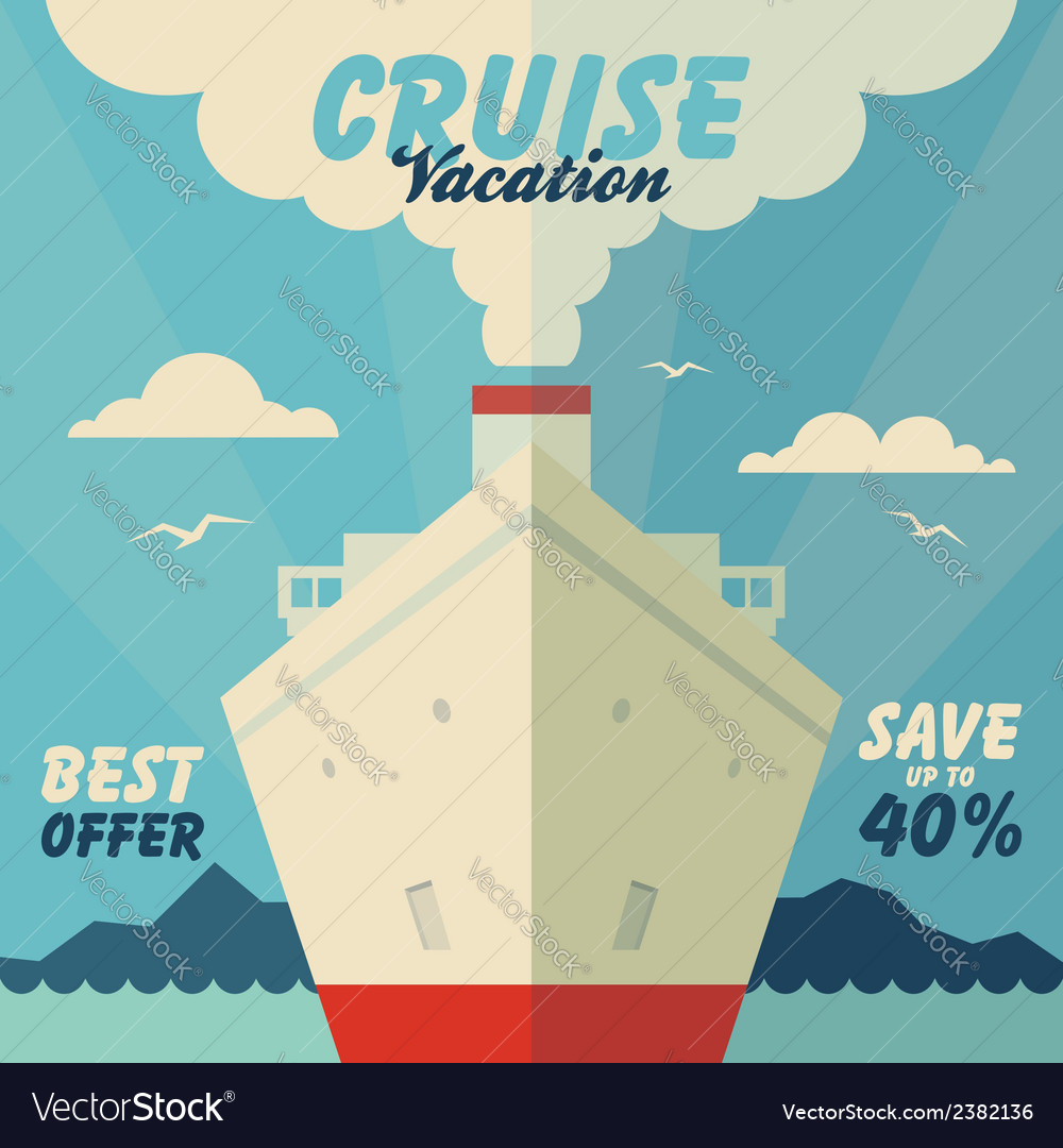 Cruise vacation and travel vector | Price: 1 Credit (USD $1)