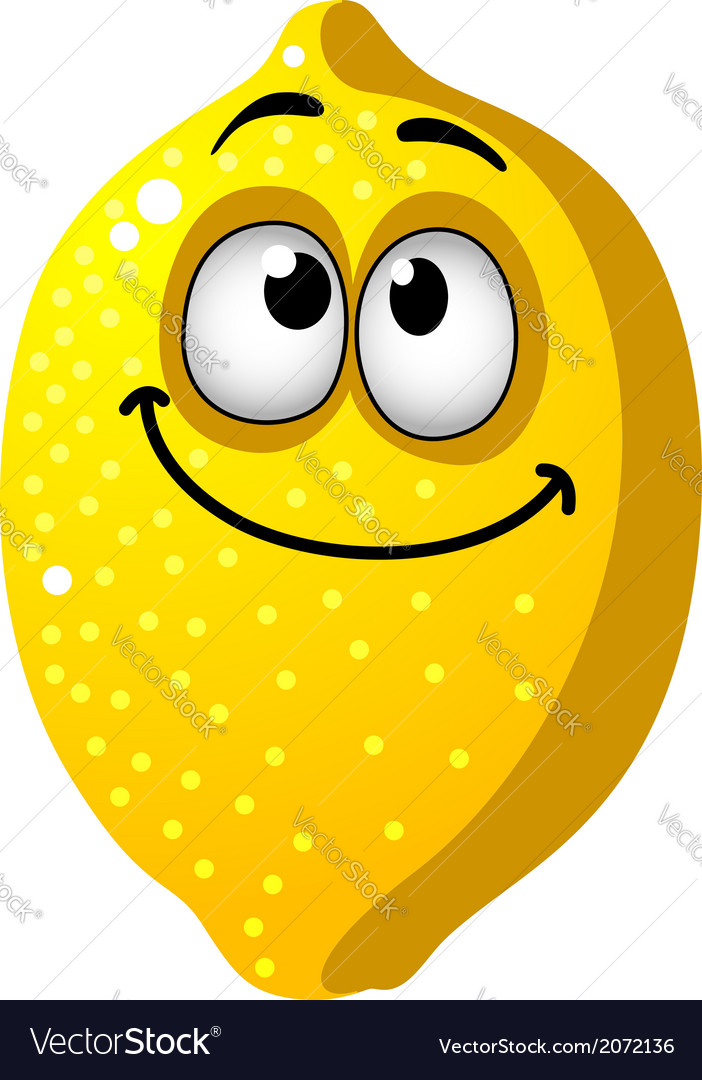 Fun cartoon lemon fruit vector | Price: 1 Credit (USD $1)