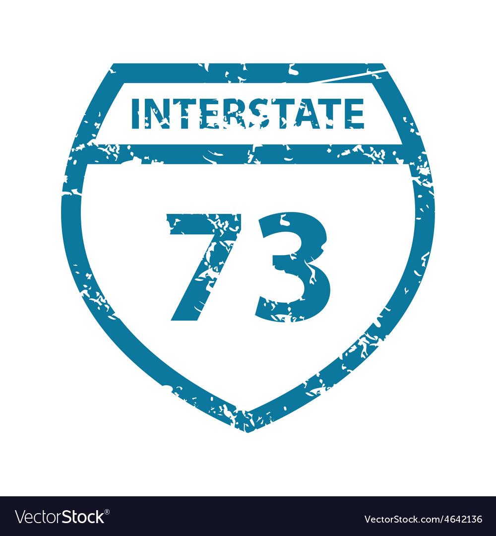 Grunge interstate 73 icon vector | Price: 1 Credit (USD $1)