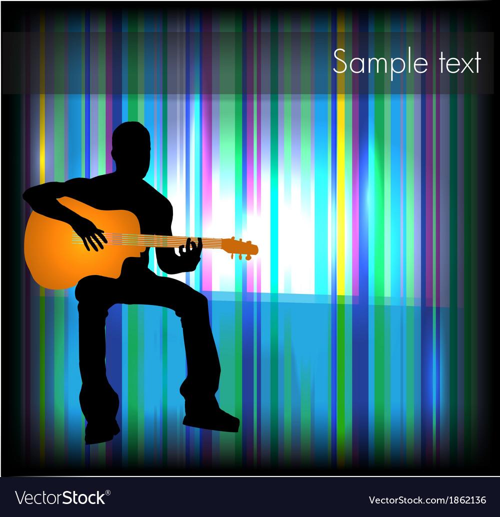 Man playing guitar vector | Price: 1 Credit (USD $1)