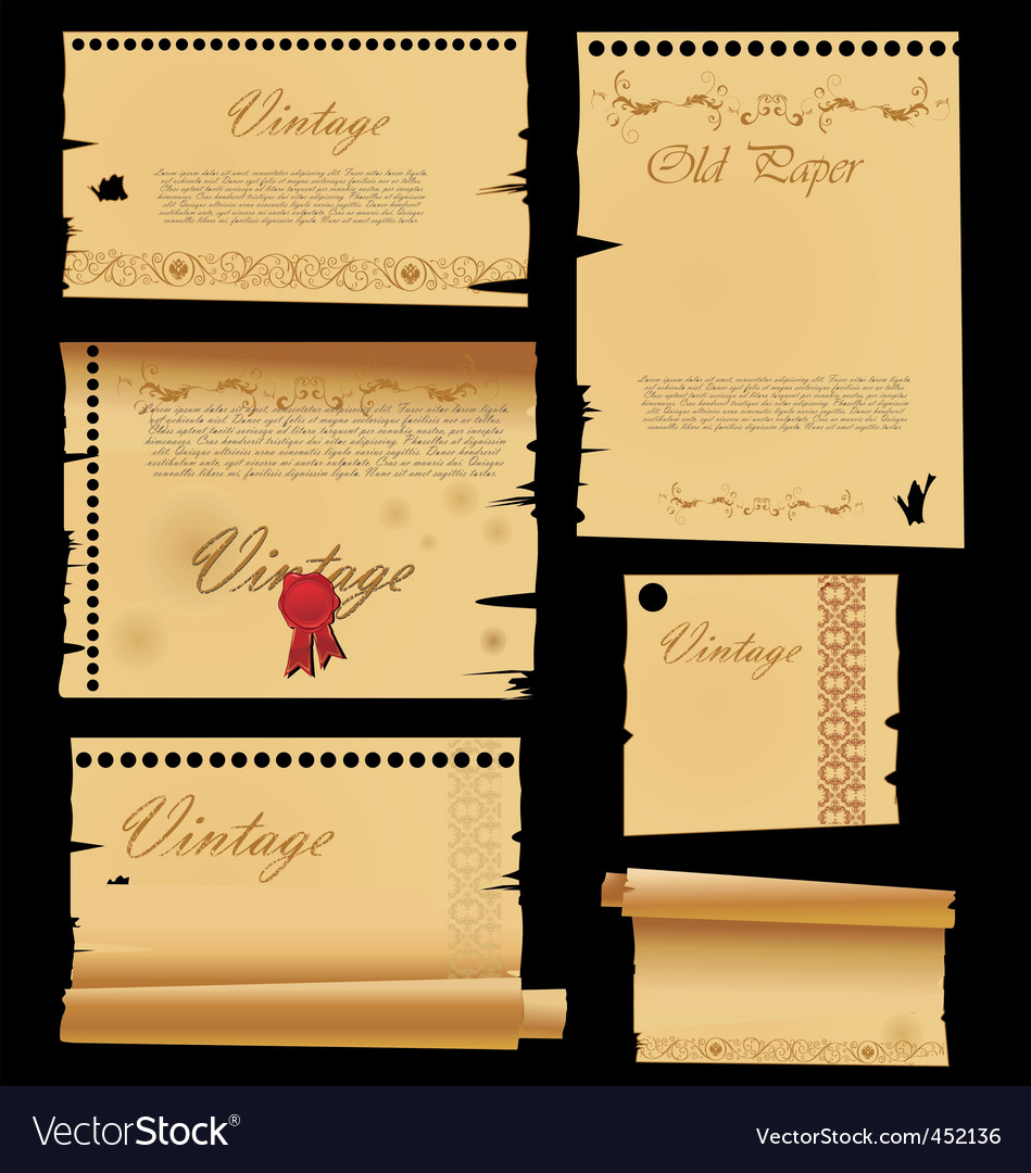 Old paper with ornaments vector | Price: 1 Credit (USD $1)