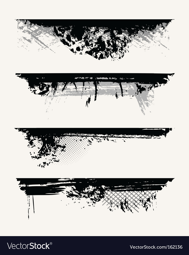Set of grunge edges vector | Price: 1 Credit (USD $1)
