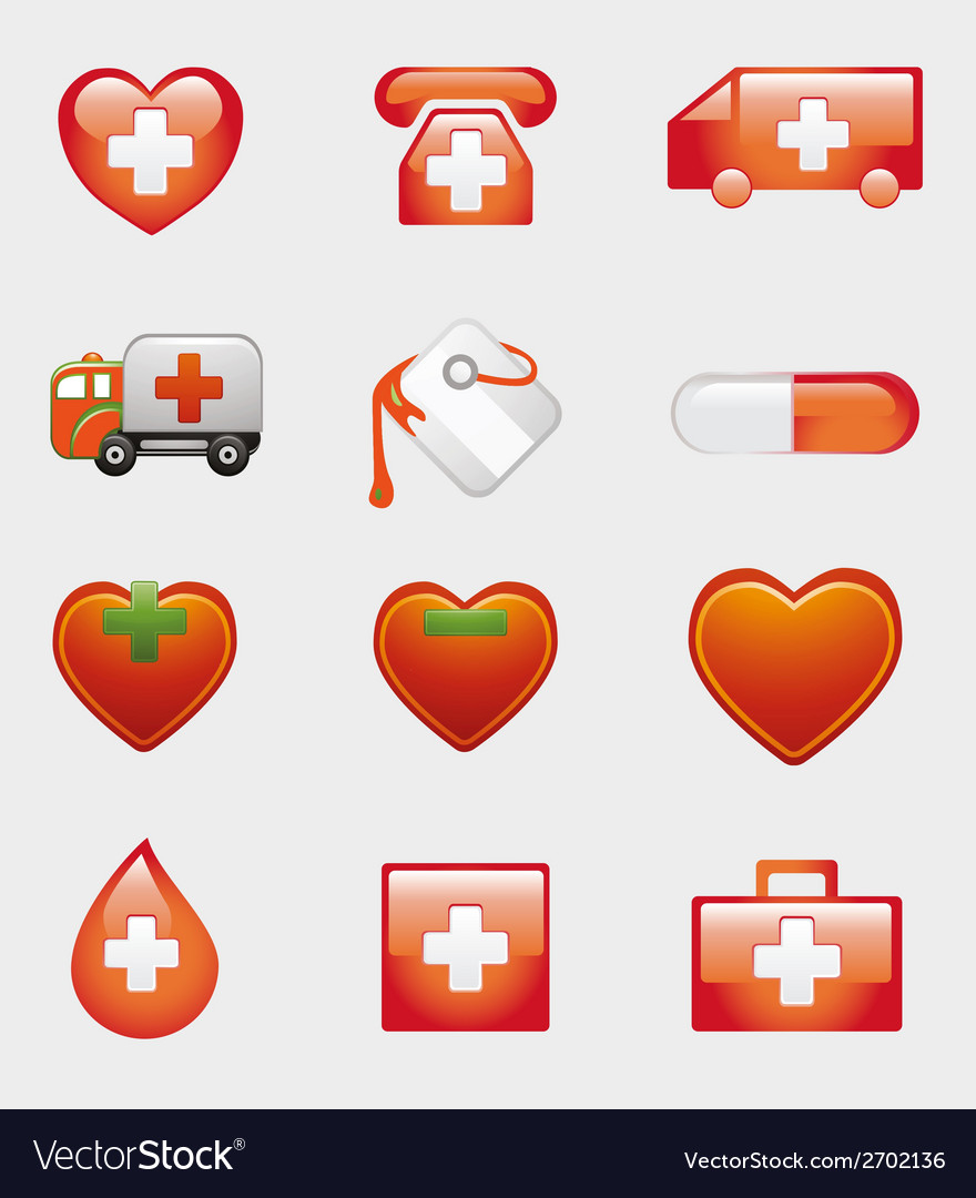 Set of medical icons symbol vector | Price: 1 Credit (USD $1)