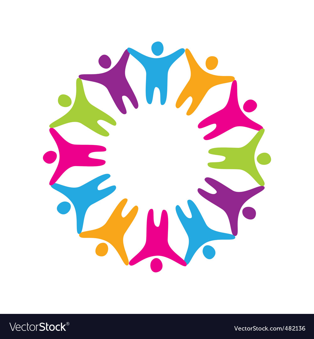 Sign friendship togetherness vector | Price: 1 Credit (USD $1)