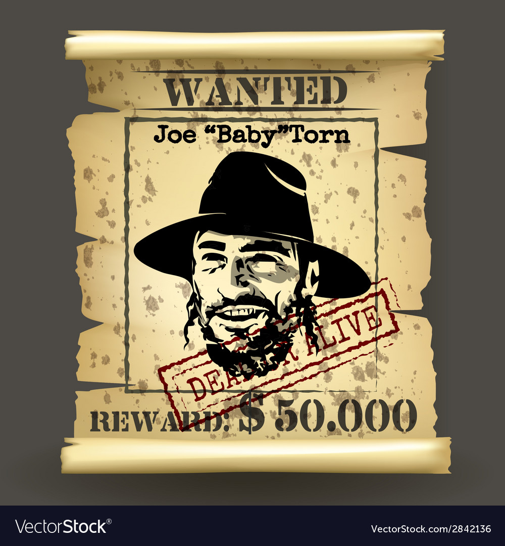 Wild west style wanted poster vector | Price: 1 Credit (USD $1)