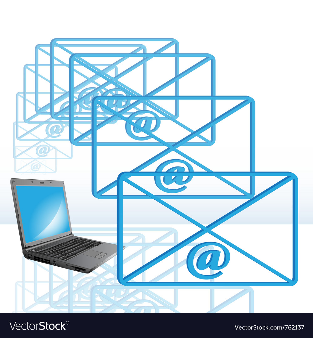 Abstract computer e-mail vector | Price: 1 Credit (USD $1)