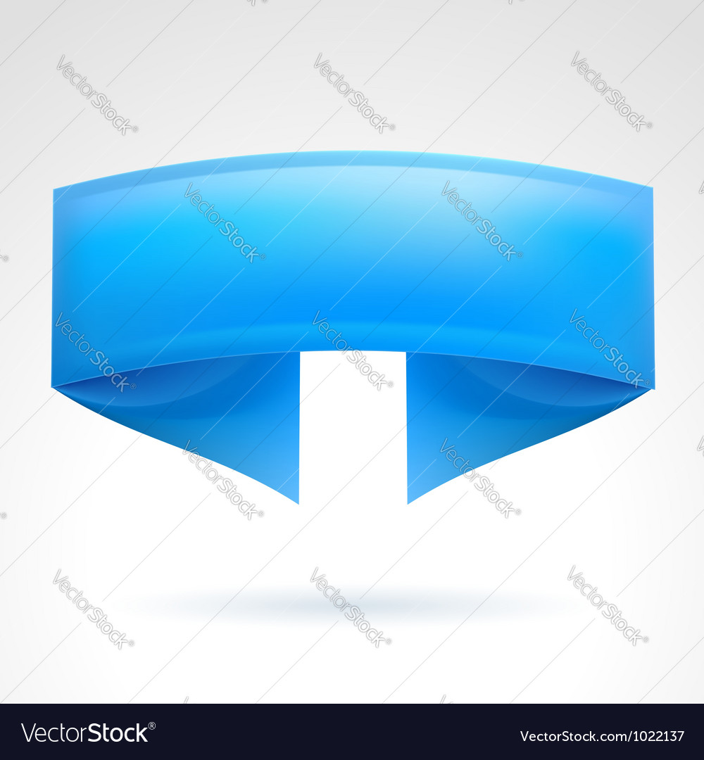 Blue banner vector | Price: 1 Credit (USD $1)