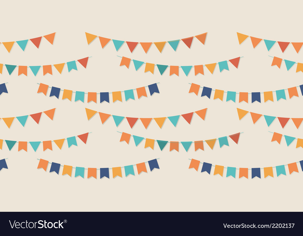 Bunting party flags seamless pattern vector | Price: 1 Credit (USD $1)