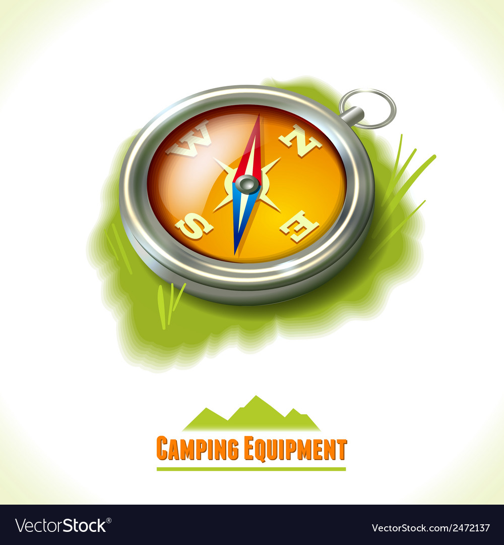 Camping symbol compass vector | Price: 1 Credit (USD $1)