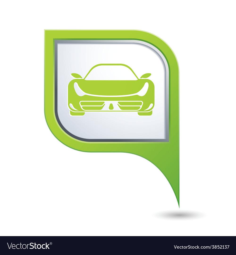 Car green pointer vector | Price: 1 Credit (USD $1)